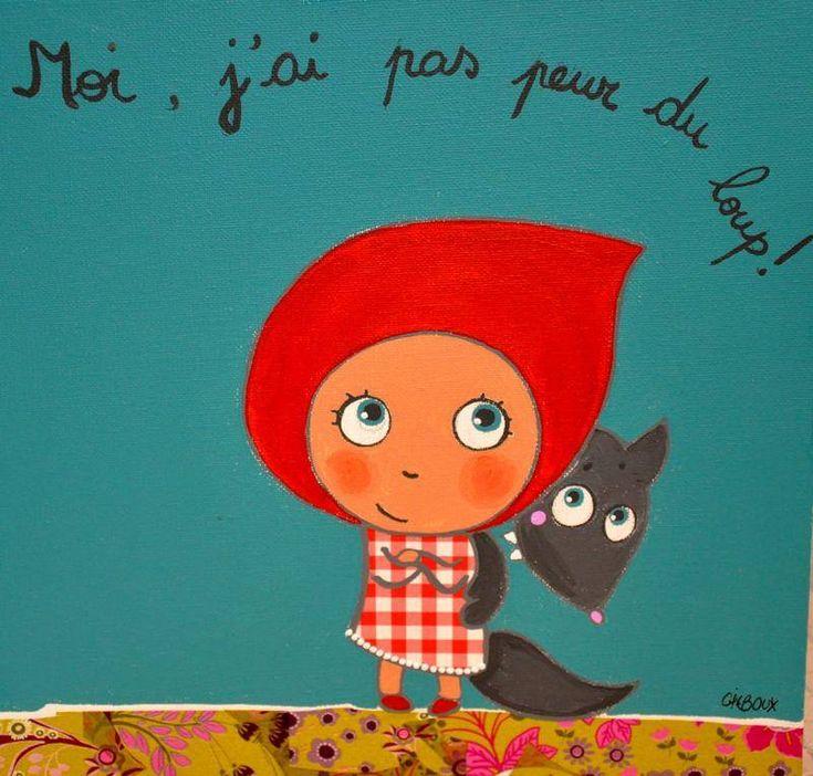 Le petit chaperon rouge tableaux, peintures (photo 1)
