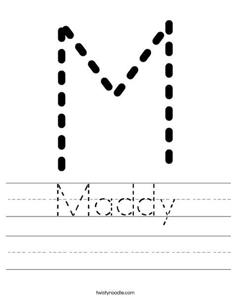 tracing worksheet mdo writing cutting names pinterest. Black Bedroom Furniture Sets. Home Design Ideas