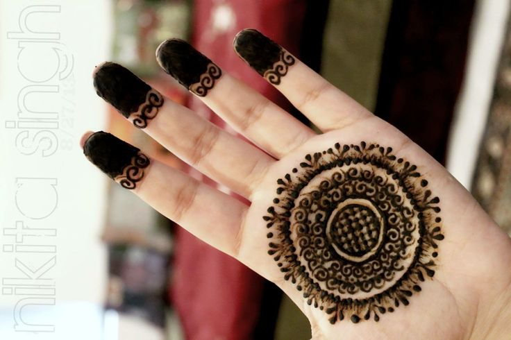 Mehndi Designs Tikka : Beautiful tikka mehndi design makedes