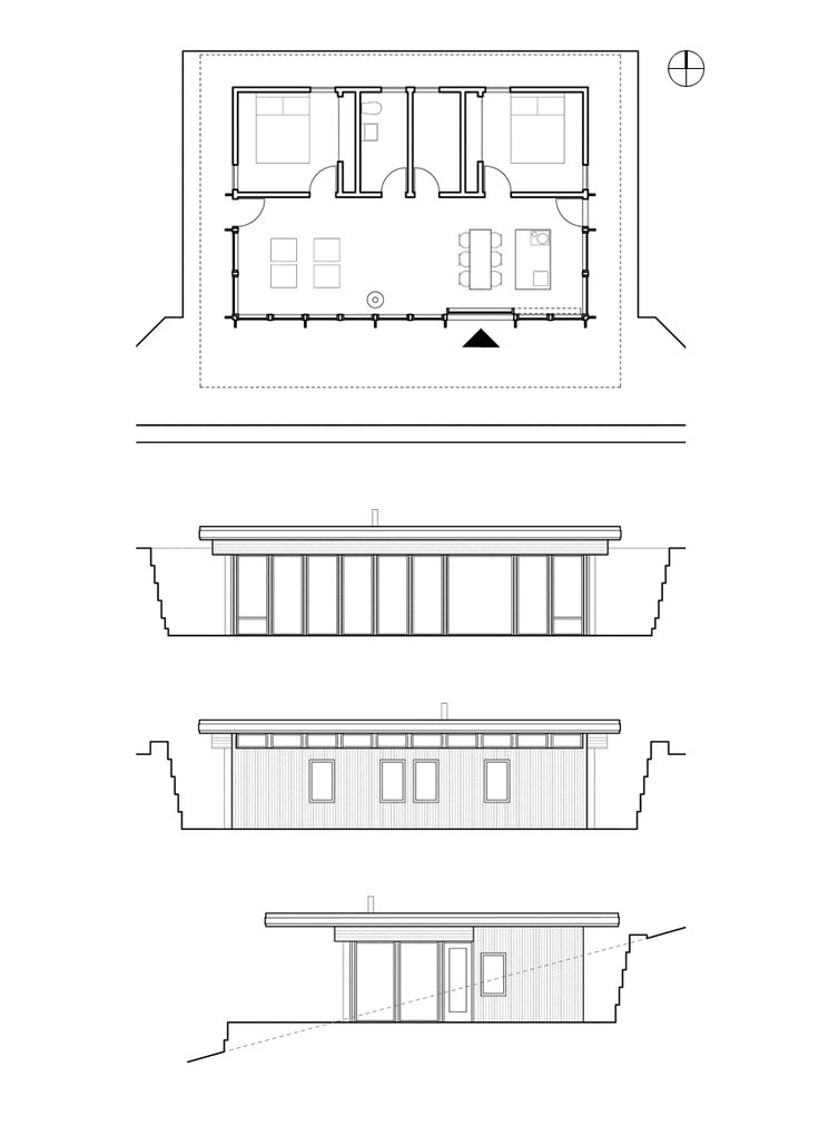Residential Cabin in Calabria, 2015 Italy - Drawings