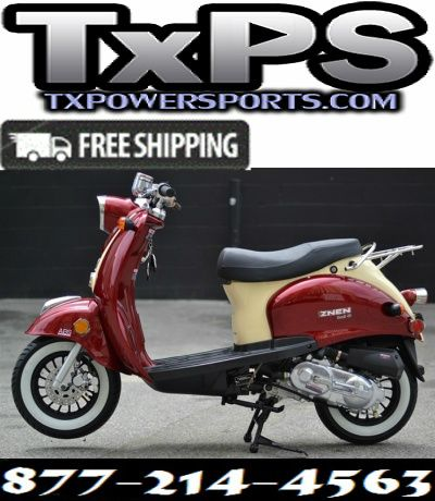 Amigo Znen 2017 SNAIL-50 49cc Street Legal Scooter, 3.0 HP 4 stroke SOHC Air Cooled Free Shipping Sale Price: $1,299.00
