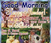 Good Morning! Happy Monday