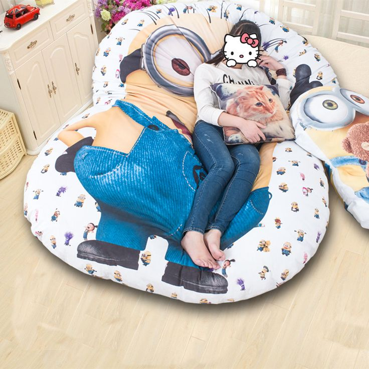 New 2016 fashion Lazy Bed Sofa Thicken Cartoon Tatami mattress Single double My Neighbor Totoro floor fold sleeping 3 Sizes