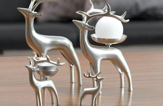 Pentik Silvered Reindeers