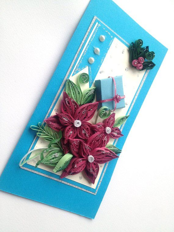 Quilling Christmas card /Christmas card / 3D Christmas card / Unique
