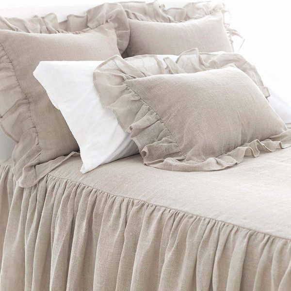 Linen Mesh Natural Bedspread design by Pine Cone Hill ($574) ❤ liked on Polyvore featuring home, bed & bath, bedding, bedspreads, bed skirt, bed linen, twin bedding, twin bed linens, linen bedspread and pine cone hill bedding