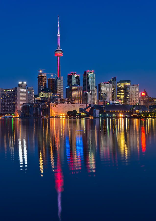 Red Cn Tower Photograph by James Wheeler - Red Cn Tower Fine Art Prints and Posters for Sale