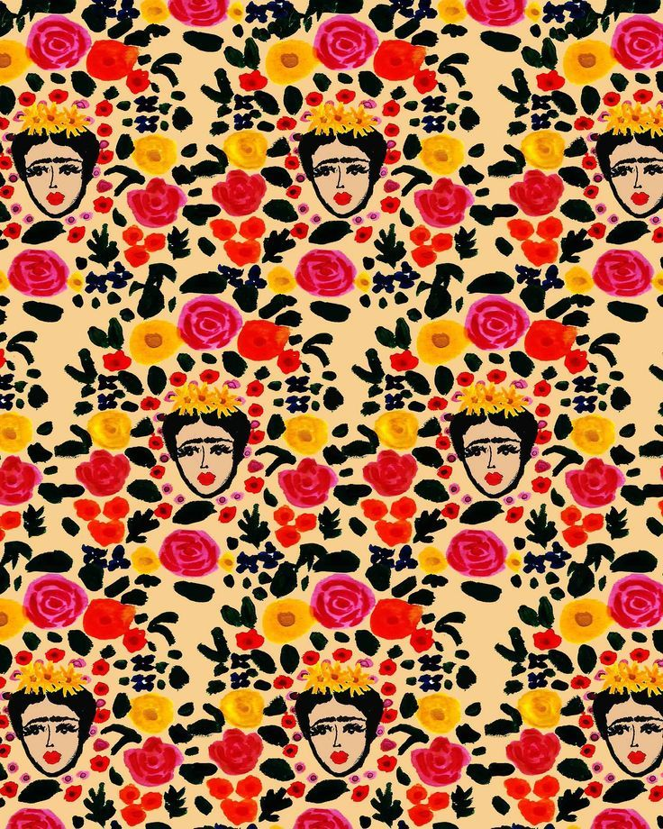 Frida! by Bouffants & Broken Hearts/ Kendra Dandy. Surface Pattern Illustrator and Textile Designer. Philadelphia, PA. Email: bouffantsandbrokenhearts@gmail.com.
