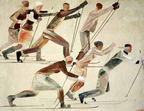 Alexander Alexandrovich Deineka, The Skiers, 1926