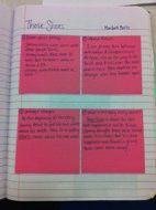 Guided Post-its from read aloud (in Reader's notebook).