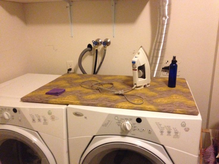 Ironing top for my washer/dryer. This was functional AND stash busting!