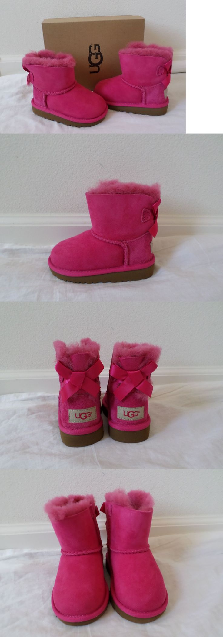 Infant Shoes: New Ugg Australia Toddler Girls Mini Bailey Bow Boots Cerise Pink Size 7 8 10 -> BUY IT NOW ONLY: $74.99 on eBay!
