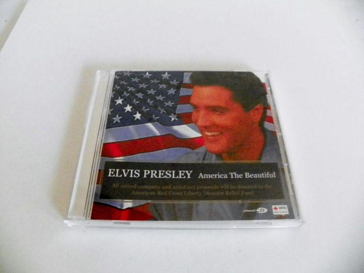 ELVIS PRESLEY CD/VIDEO AMERICA THE BEAUTIFUL RCA 07863-60501-2 NM 2001 3 TRACKS #RocknRoll