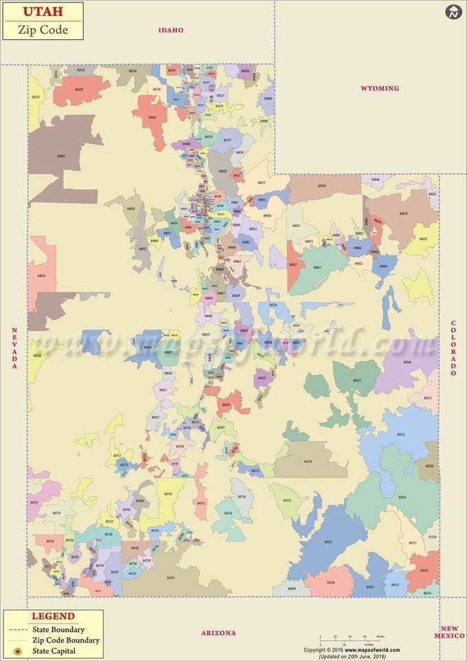 utah zip code map  utah postal code