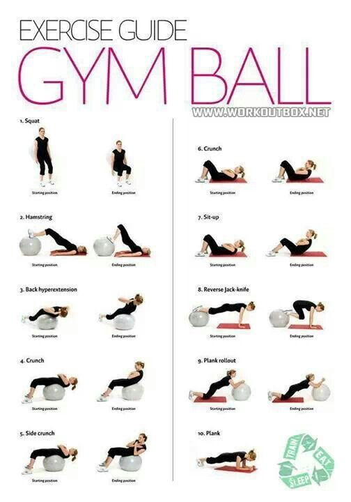 Here's what to do with a gym ball -- you can do this at the gym or in your home :) #Fitness #Workout #Healthy