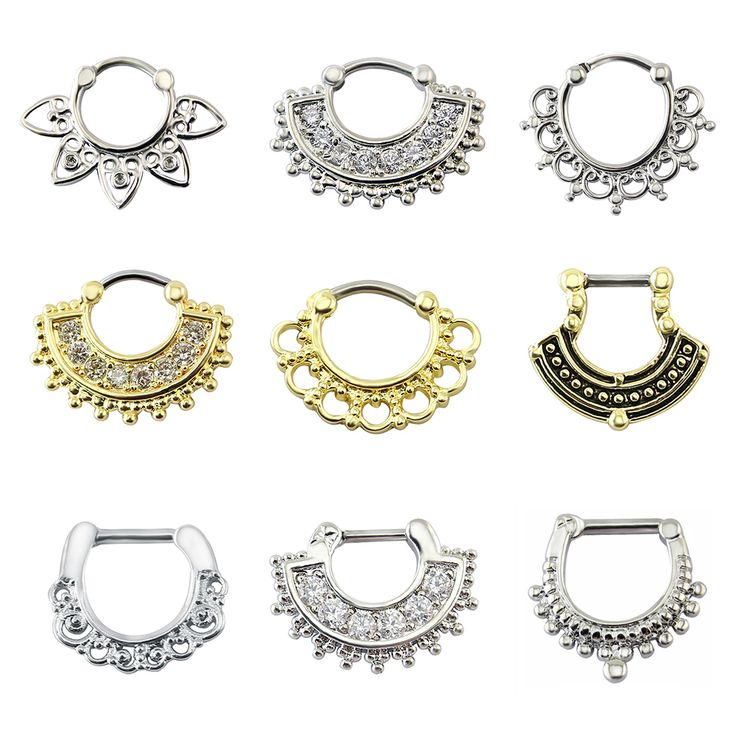 Indian nose piercing septum clicker real clip rings piercing jewelry septum tribal hoop nose ring body piercing septo indiano