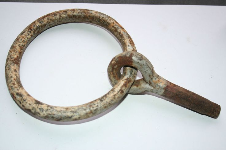 Antique 1800s Hand Forged Iron Horse Ring Hitch Hitching