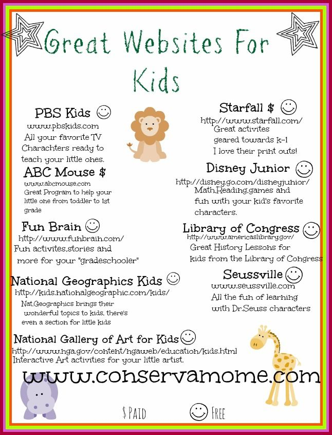 Fun Sites For Kids - ConservaMom