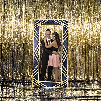 Show off your good side in this Art Deco Large Mirror Standee! Each standee measures 7 feet 6 inches high x 3 feet 10 inches wide.
