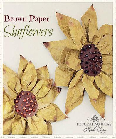 Brown Bag Paper Sunflowers Tutorial
