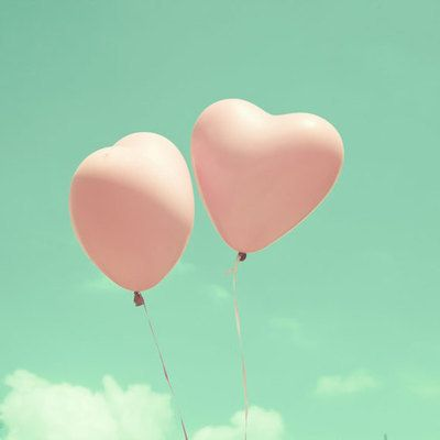 heart balloons ♥ cute for a wedding for everyone to let go as the bride and groom drive away < love that idea