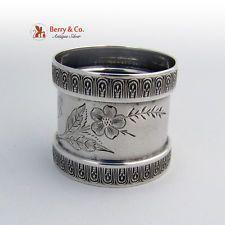Victorian Napkin Ring Coin Silver 1870