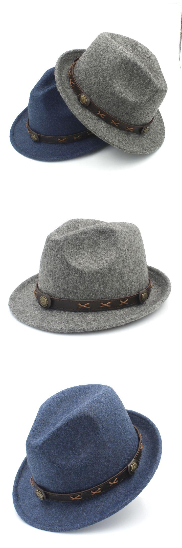 100% Wool Women Men Winter Fedora Hat For Elegant Lady Dad Steampunk Homburg Church Hat Derby Cloche Jazz Caps With Fashion Belt
