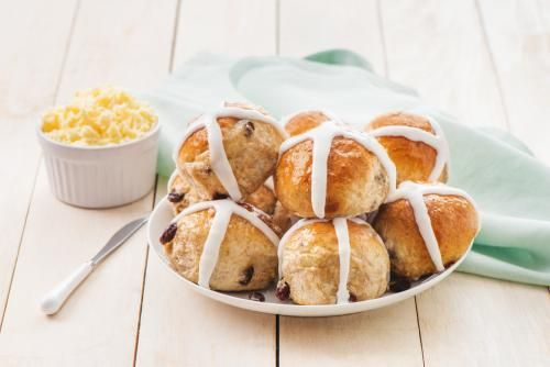 Whole Wheat Hot Cross Buns With Cardamom