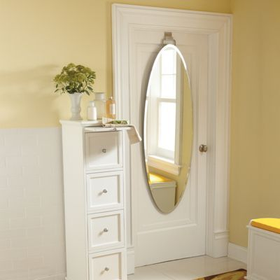 Over Door Beveled Door Mirror ~ Easy To Hang U0026 Has A Beautiful, Frameless  Design That Offers The Utility Of A Full Length Mirror, Without Drilling  Damaging ...