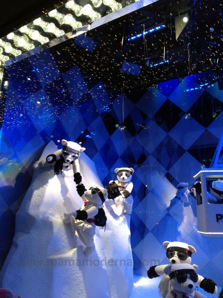 """Escaparates navideños 2013 de """"Printemps"""", osos tiernos como dice mi pequeño."""
