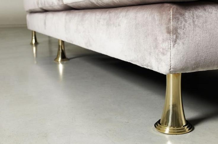 Polished Brass Sofa Legs | Design Inspiration | Pinterest | Sofa Legs,  Polished Brass And Interiors