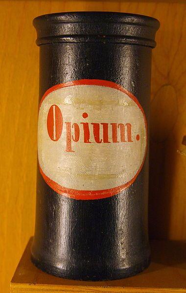 Apothecary vessel Opium 18-19 century.