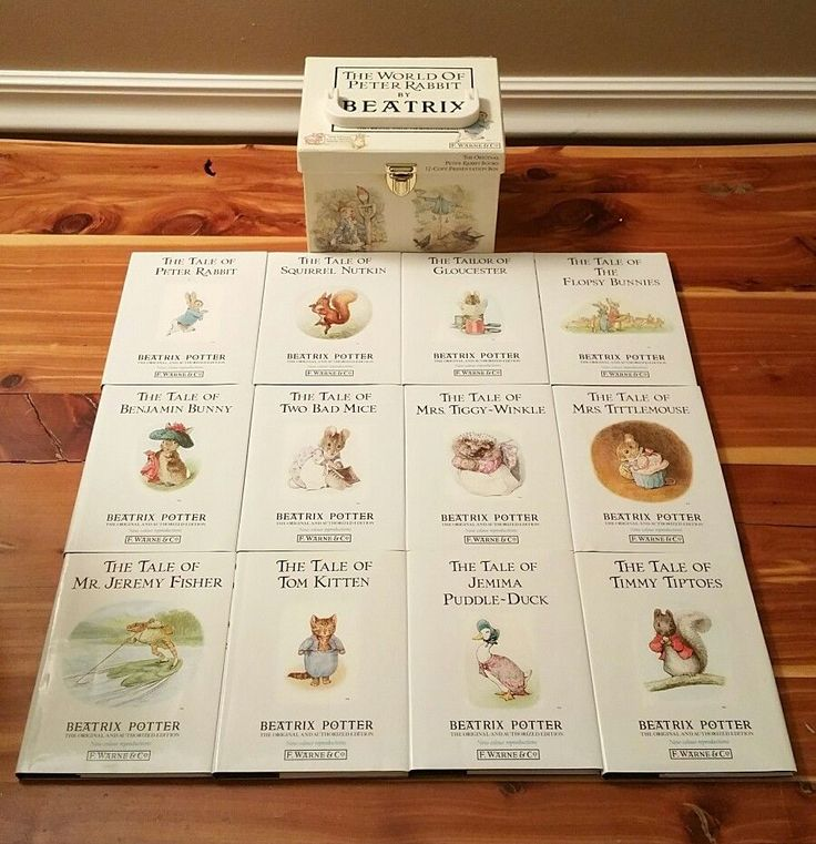 VINTAGE 1989 THE WORLD OF PETER RABBIT-BEATRIX POTTER 12 BOOK SET-BOX HARDCOVER | Books, Antiquarian & Collectible | eBay!