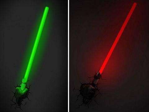 Luminárias 3d star wars
