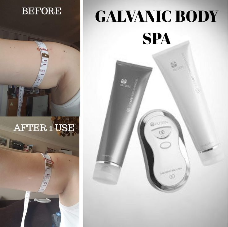 The Galvanic Body Spa. A fantastic device that helps to tone up loose baggy skin, as well as reduce the appearance of cellulite and stretch marks by using magnetic currents in the device and gel that repel each other and so pushes the gel deeper into the skin.  Fantastic results have been seen with frequent use.  ORDER direct http://bashfulbabesbeauty.nsproducts.com/