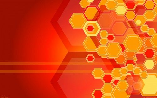 Attachment for Hexagon Shape in Red and Yellow for abstract wallpaper