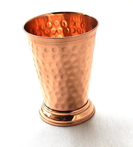 STREET CRAFT Hammered Copper Mint Julep Cup/Hammered Copper Moscow Mule Mint Julep Cup 100% pure copper,handcrafted without doted, Capacity- 12 oz. PURE COPPER Handcrafted without doted deign Mint Julep cup, Holds 12 ounce. Not tainted by other metals. Food-safe lacquer coating helps preserve beauty and luster Perfect size for a Moscow Mule or Mint Julep- Also great for other cold beverages - Keeps drinks cold and delicious! https://food.boutiquecloset.com/product/street-craf
