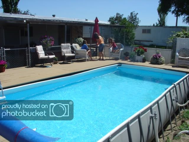 Landscaping Around An Intex Pool Above Ground Pool Decks In