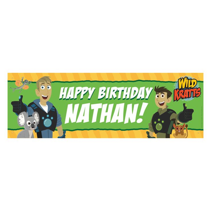 The Official PBS KIDS Shop | Wild Kratts Birthday Adventure Banner: