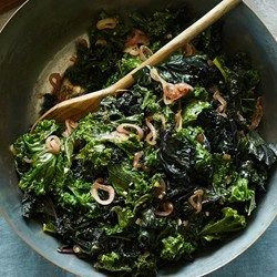 Wilted Kale with Warm Shallot Dressing - EatingWell.com