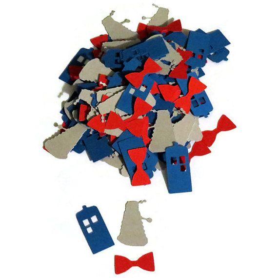 Doctor Who décorations de fête confettis tardis par PartyParts