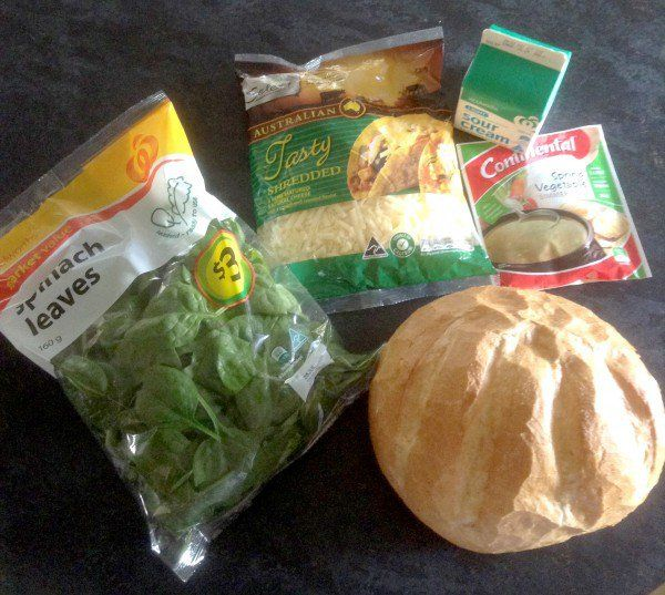 Cheesy Spinach Cob Loaf Dip | The Organised Housewife