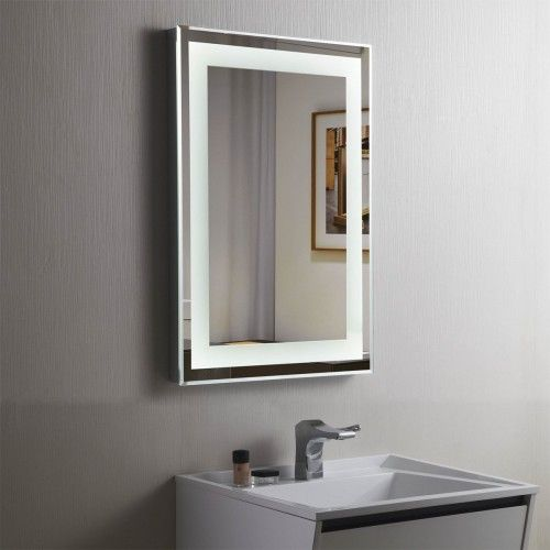 Vertical Rectangle LED Bathroom Mirror Illuminated Lighted Vanity