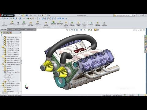 91 best solidworks tutorial images on pinterest solidworks solidworks tutorial car engine advanced assembly youtube fandeluxe Images