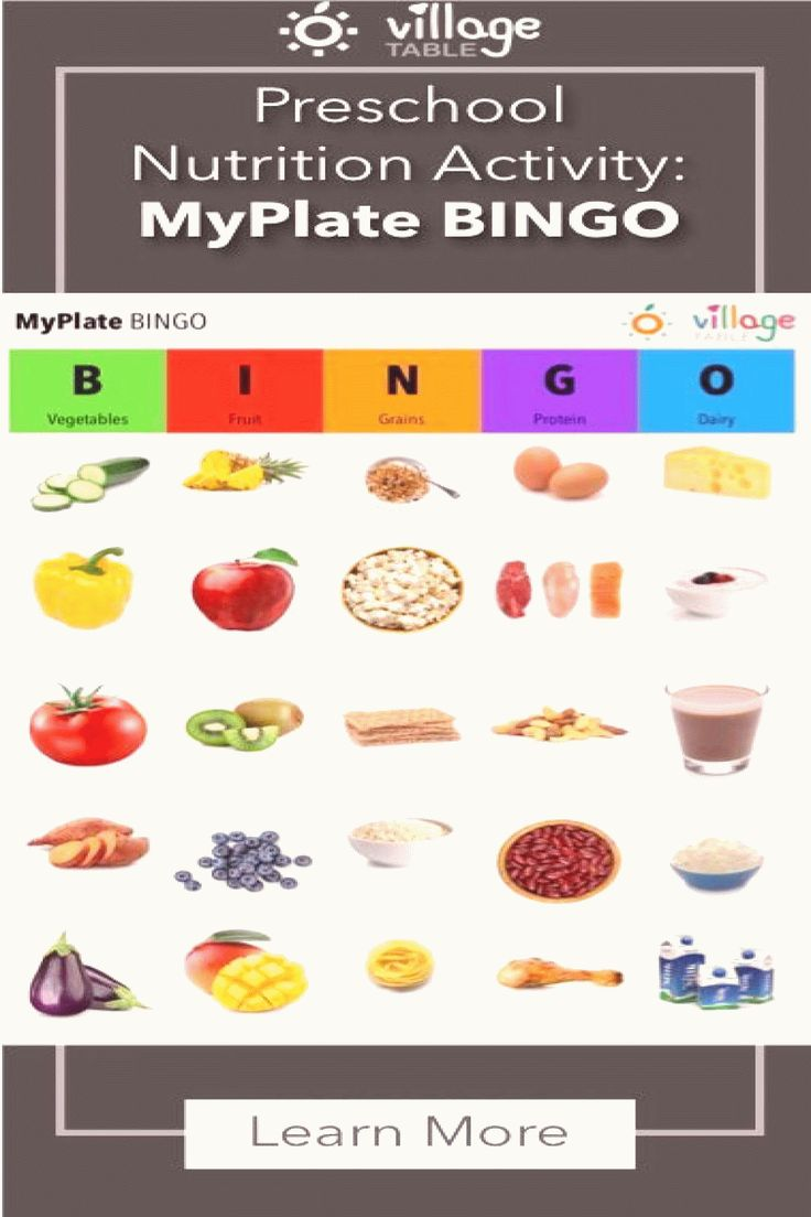 Nutrition Activities MyPlate BINGO Help make learning the
