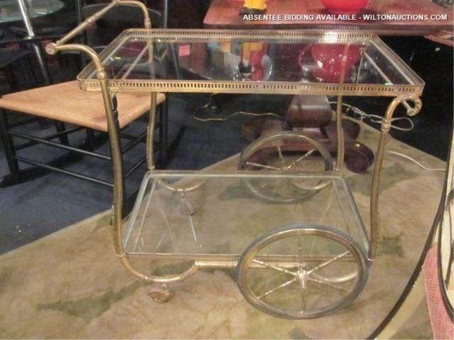 Vintage serving cart