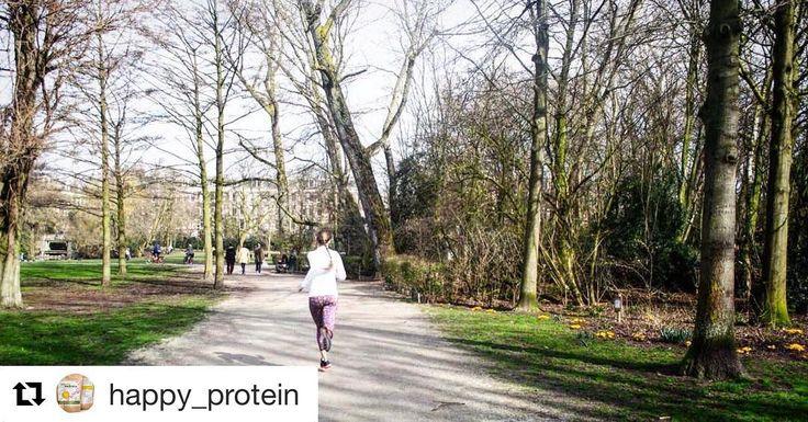 Lekker weer! Zondag is een topdag voor een rondje rennen gevolgd door een body workout. Lees hoe in mijn blog op eiwit.nl! #link in bio @happy_protein #love2workout