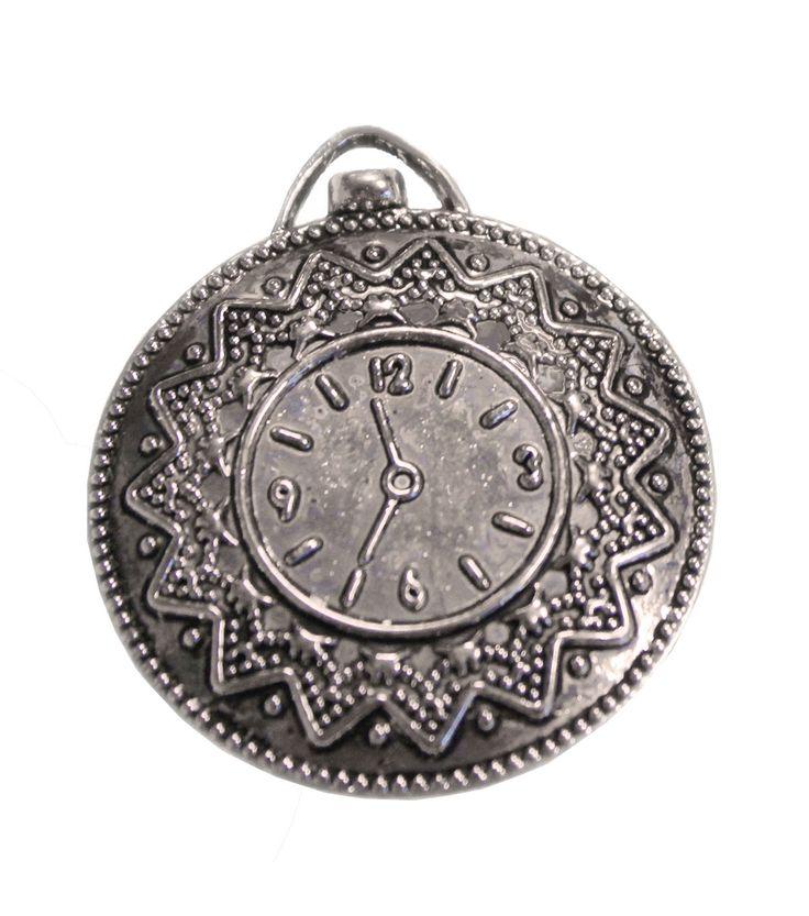 FabScraps Silver Vintage Clock Embellishments