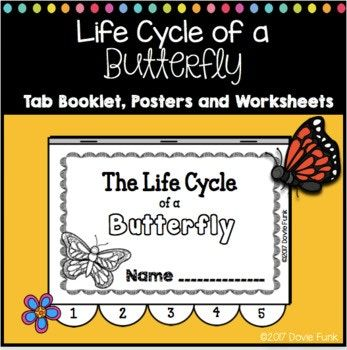 This is a fun and engaging way to learn about the life cycle of butterflies! This resource includes: TWO sets of posters (one on the life cycle of butterflies, the other is butterfly facts with vocabulary), TWO printable cut and paste worksheets for reinforcement, a five-page tab