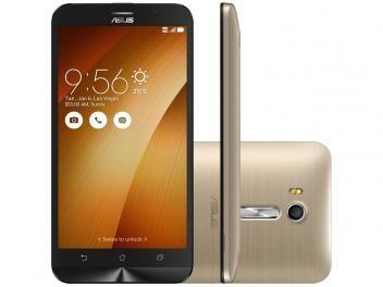 """Smartphone Asus ZenFone Go Live 16GB Gold - Dual Chip 4G Câm. 13MP + Selfie 5MP Tela 5.5"""" HD"""